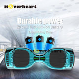 "6.5"" UL 2272 Certified Hoverboard  with Bluetooth and Self Balancing, Chrome turquoise"