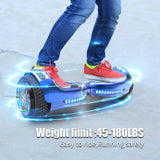 "6.5"" UL 2272 Certified Hoverboard  with Bluetooth and Self Balancing,Blue"