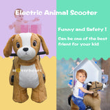Rechargeable 6V/7A Plush Animal Ride On Toy,Dog