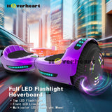 "6.5"" UL 2272 Certified Hoverboard  with Bluetooth and Self Balancing, Chrome purple"