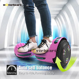 "6.5"" UL 2272 Certified Hoverboard  with Bluetooth and Self Balancing,Pink"
