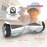 "Hoverboard 6.5"" UL 2272 Listed Two-Wheel Self Balancing Electric Scooter with LED Light White"