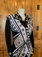 Showtime Size 8 Black and White Vest Set