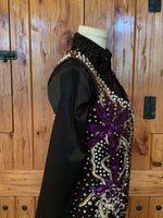 Ladies Small- Medium Black, Purple, and Gold Vest