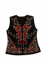 Ready Set Show Ladies Size 8 Red and Black Vest