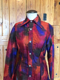 Silk Tie Dye Button Up