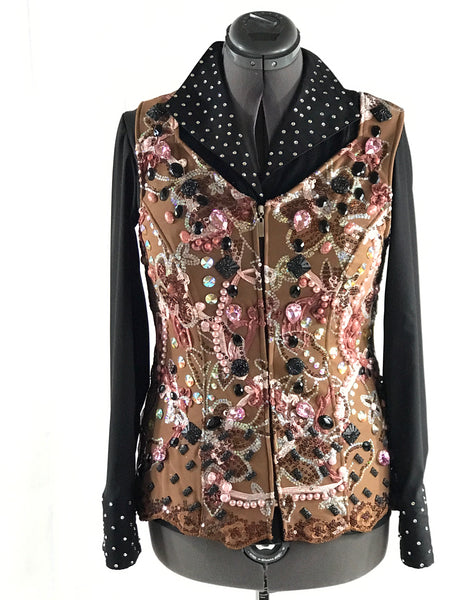 French Tan HSC Large Vest with Black and pink accents
