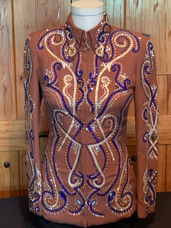 Light Brown and Purple Jacket Size Small