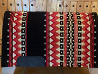 Oversized Show Blanket with Black Base, Metallic Gold, Coral, Show Red, and Tangerine