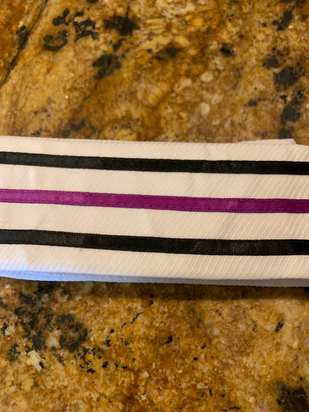 Plum and Black Triple Lines