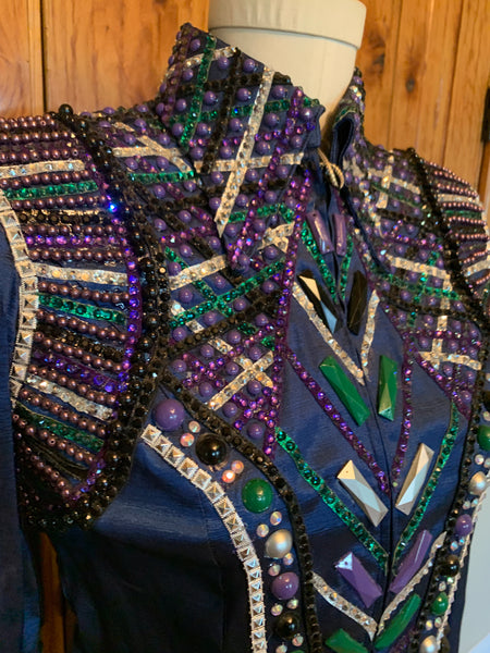 Emerald Green and Cobalt Jacket Size Large