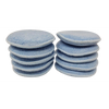 10 Blue Microfiber Polishing Pads