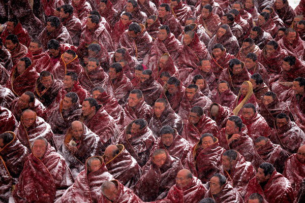 Monks at the Labrang Monastery