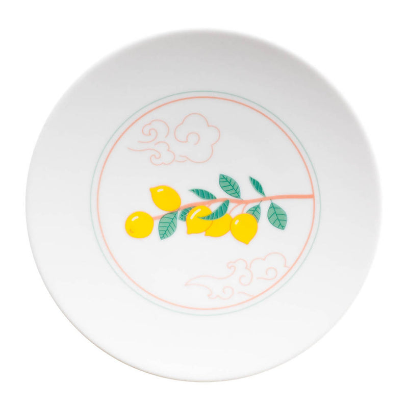 Lemon and clouds plate