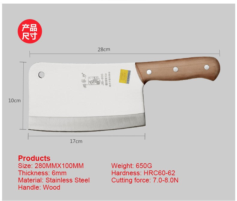 Stainless steel chrome kitchen knives/cleaver