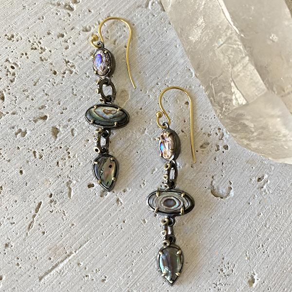Abalone Drop Earrings Earrings Robindira Unsworth