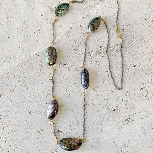 Abalone Layering Necklace Necklace Robindira Unsworth