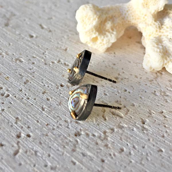 Abalone Stud Earrings Earrings Robindira Unsworth