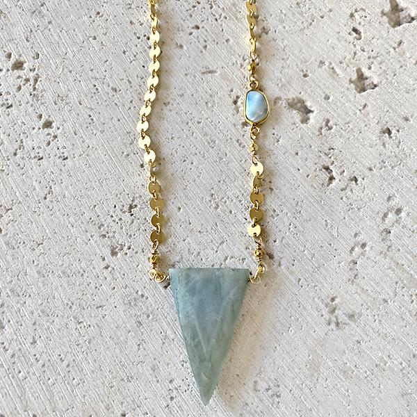 Aquamarine And Larimar Necklace Necklace Robindira Unsworth