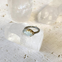 Aquamarine Diamond Overlaid Marquis Ring Ring Robindira Unsworth