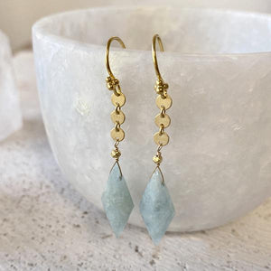 Aquamarine Drop Earrings Earrings Robindira Unsworth