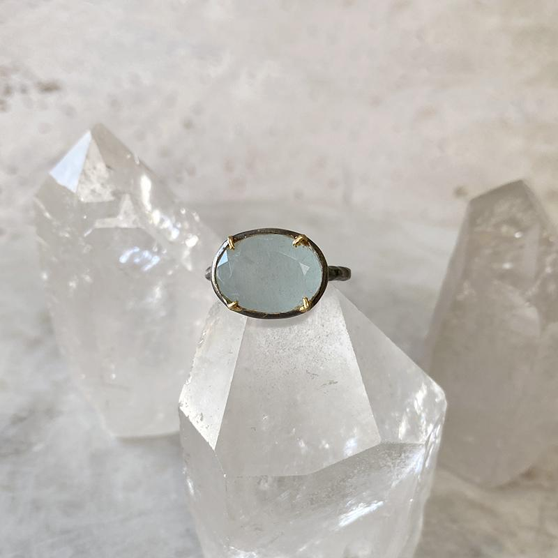 Aquamarine Oval Ring Ring Robindira Unsworth