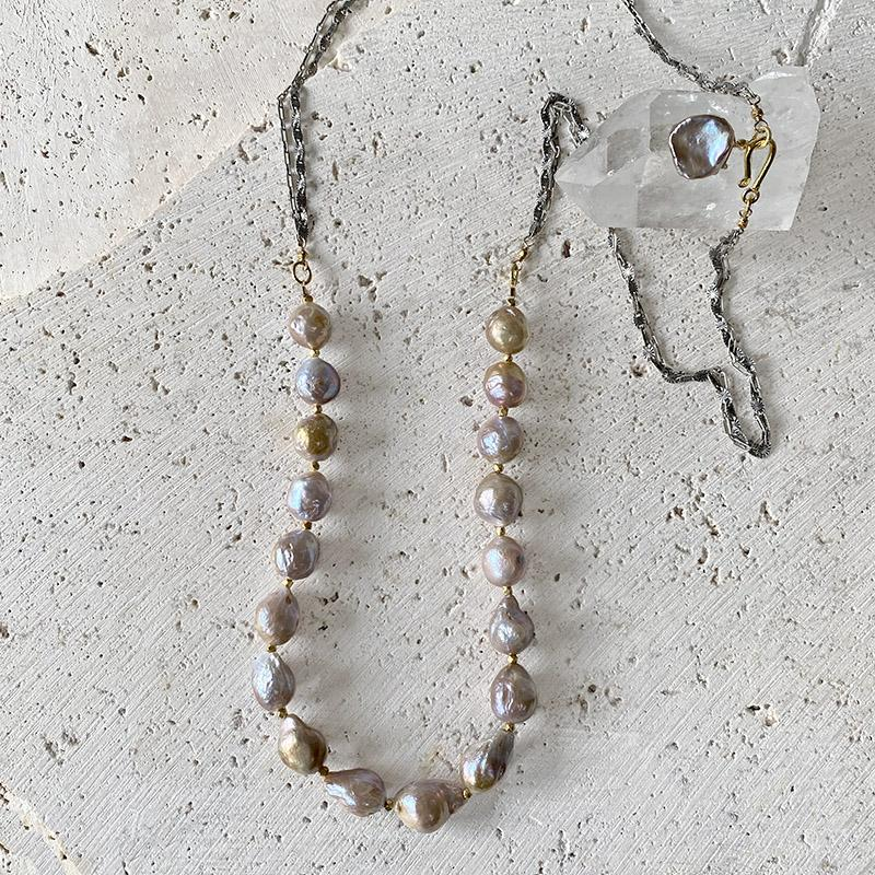 Baroque Pearl Necklace Necklace Robindira Unsworth