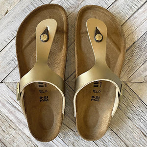 Birkenstock Gizeh Gold Sandals Shoes Birkenstock