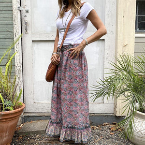Blue Boheme Emma Maxi Skirt Clothing Blue Boheme