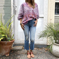 Blue Boheme Pushkar Pink Blouse Clothing Blue Boheme