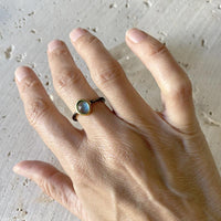 Blue Quartz Stacking Ring Ring Robindira Unsworth