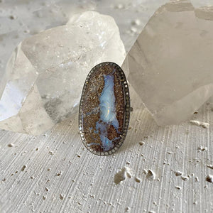 Boulder Opal Diamond Statement Ring Ring Robindira Unsworth