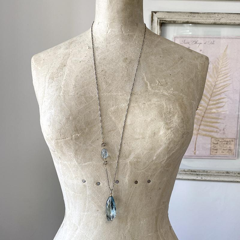 Copper Aquamarine Necklace Necklace Robindira Unsworth