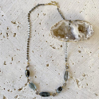 Copper Aquamarine White Topaz Necklace Necklace Robindira Unsworth