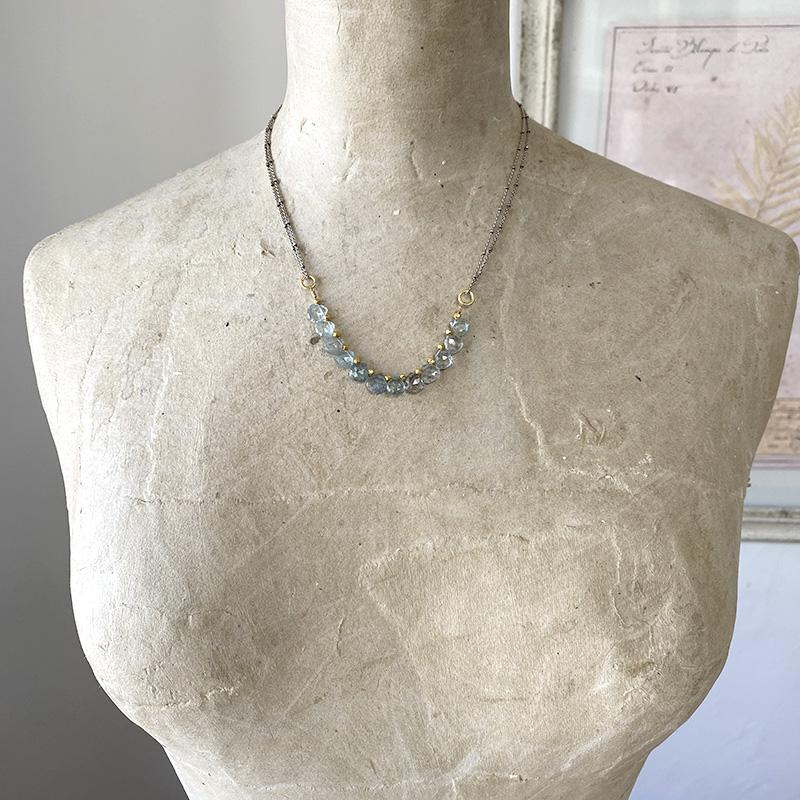 Delicate Copper Aquamarine Necklace Necklace Robindira Unsworth