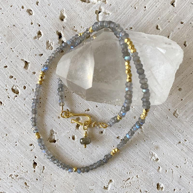 Delicate Labradorite Collar Necklace Necklace Robindira Unsworth