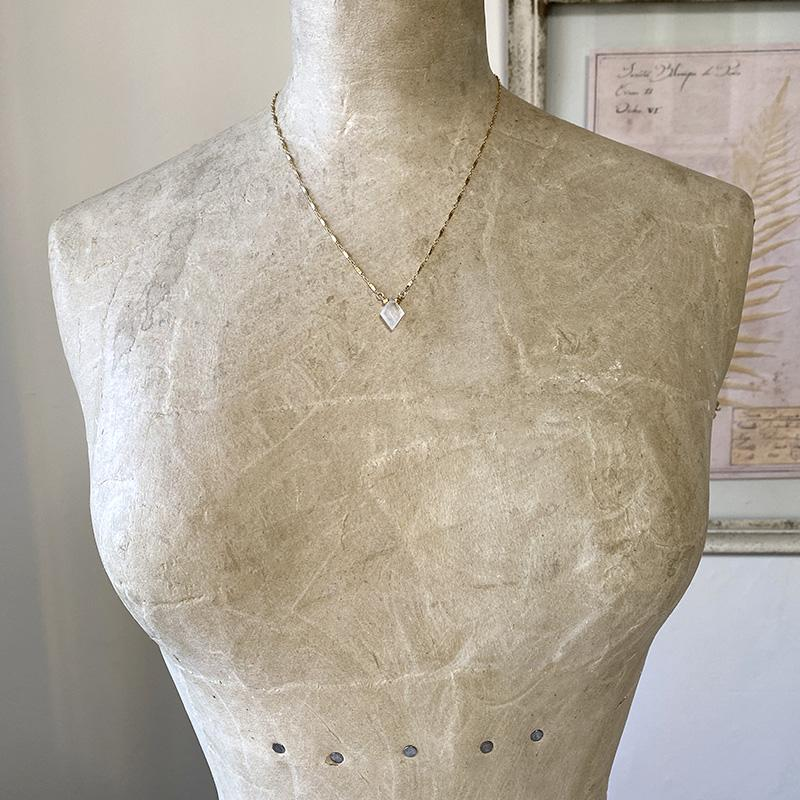 Delicate Moonstone Marquis Necklace Necklace Robindira Unsworth