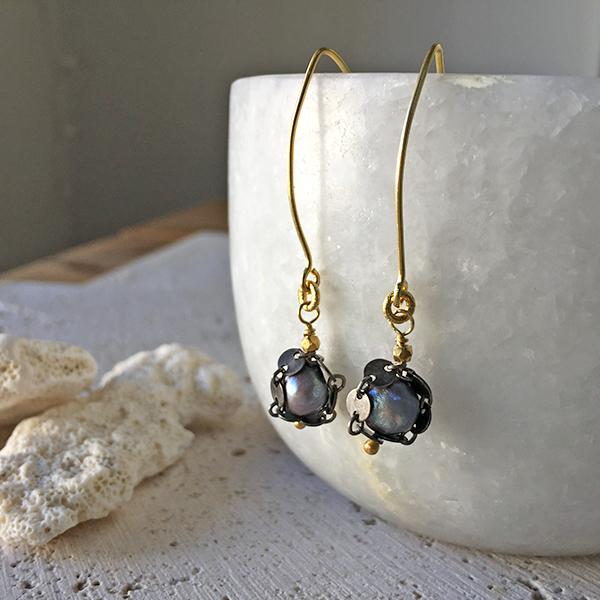 Delicate Pearl Drop Earrings Earrings Robindira Unsworth