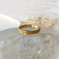 Delicate Textured 14k Gold Ring Ring Robindira Unsworth