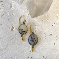 Dendritic Agate Drop Earrings Earrings Robindira Unsworth