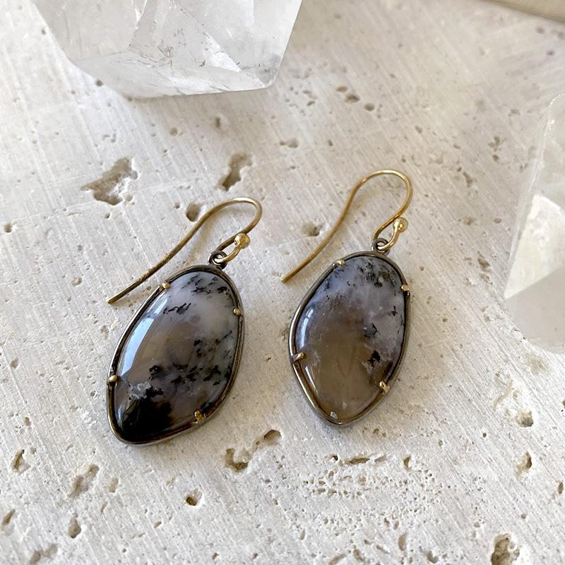 Dendritic Agate Earrings Earrings Robindira Unsworth