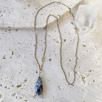 Dendritic Agate Teardrop Necklace Necklace Robindira Unsworth