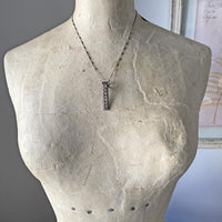 Diamond Slice Bar Necklace Necklace Robindira Unsworth