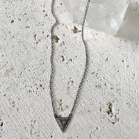 Diamond Slice Triangle Necklace Jewelry Robindira Unsworth