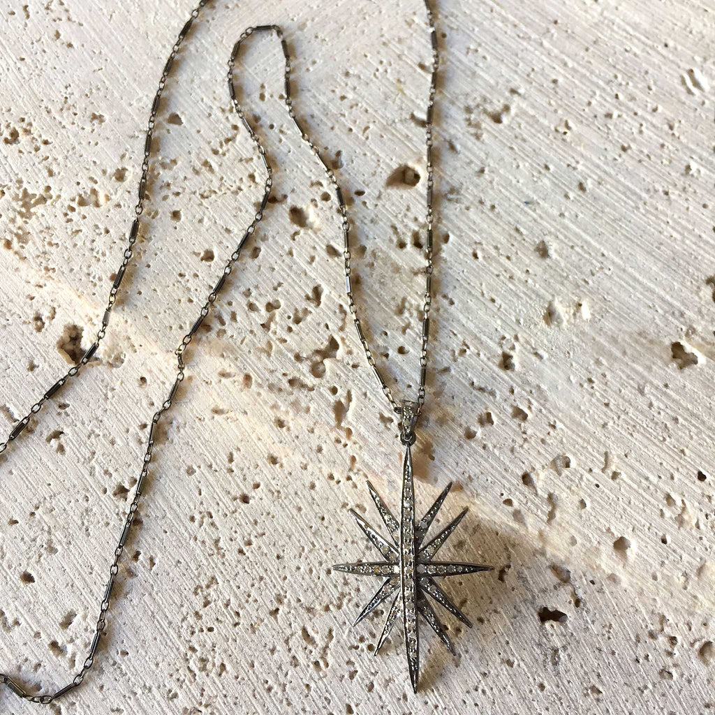 Diamond Star Necklace Jewelry Robindira Unsworth