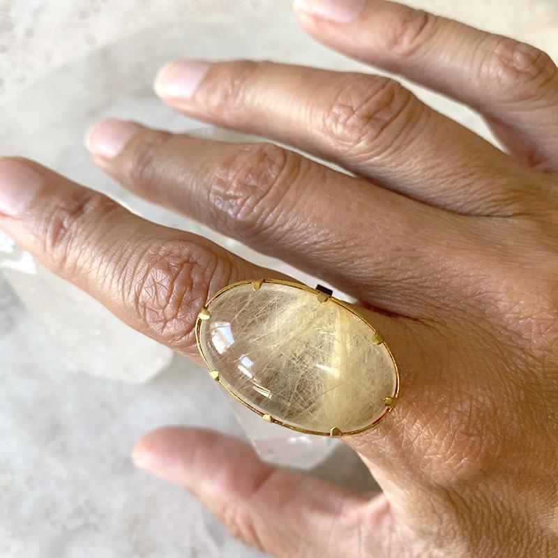 Golden Rutilated Quartz Ring Ring Robindira Unsworth
