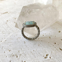 Horizontal Peruvian Opal Diamond Ring Ring Robindira Unsworth