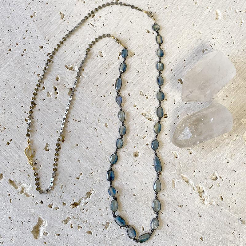 Kyanite Long Layering Necklace Necklace Robindira Unsworth