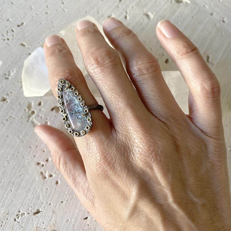 Kyanite Mixed Metal Ring Ring Robindira Unsworth