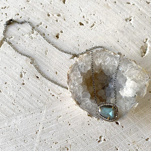 Labradorite Diamond Collar Necklace Necklace Robindira Unsworth